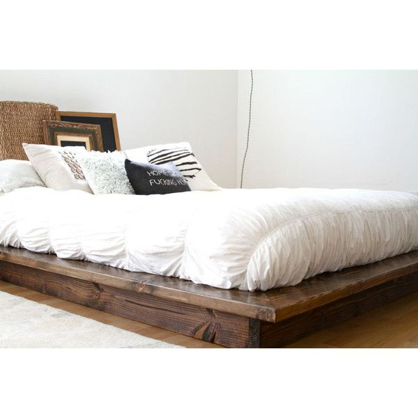 Modern Floating Platform Bed Frame Rustic Contemporary Clean Floating Bed Frame Floating Platform Bed Low Platform Bed Frame