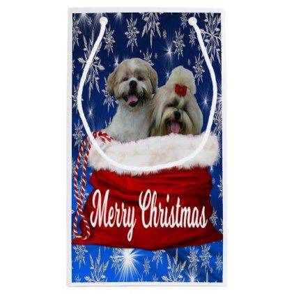 Shih Tzu Gift Bag Christmas Dog Puppy Dogs Doggy Pup Hound Love