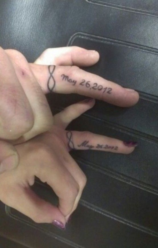 Awesome Wedding Ring Tattoos For Romantic Couples   couple tattoos ...