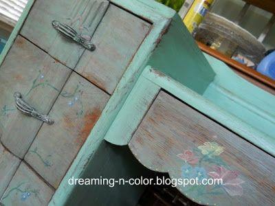 dreamingincolor: Antique Vanity-Redo of a Redo
