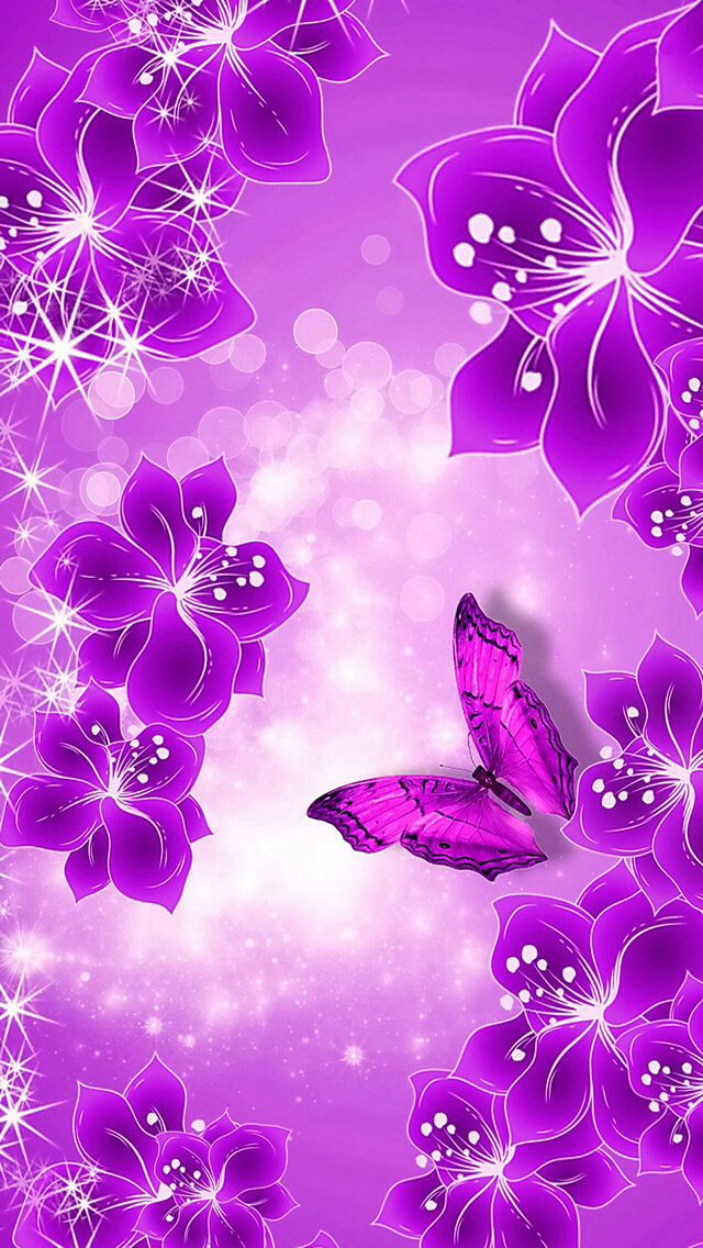 Purple Butterfly Wallpaper Backgrounds for Smartphones