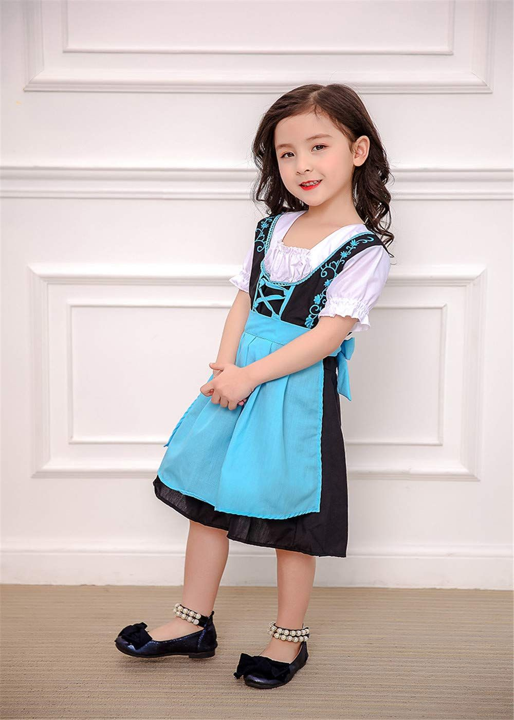7d63894e4 Kids German Bavarian National Dress Oktoberfest Dirndl Costume Girls Blue M  >>> You can discover even more details at the web link of the picture.
