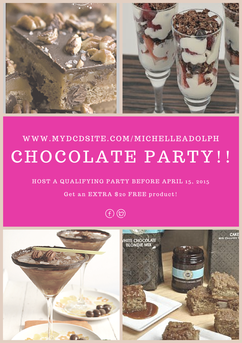 Dove Chocolate Discoveries Host a Party Bonus www.mydcdsite.com/MichelleAdolph  and www.fb.com/dcdmichelle