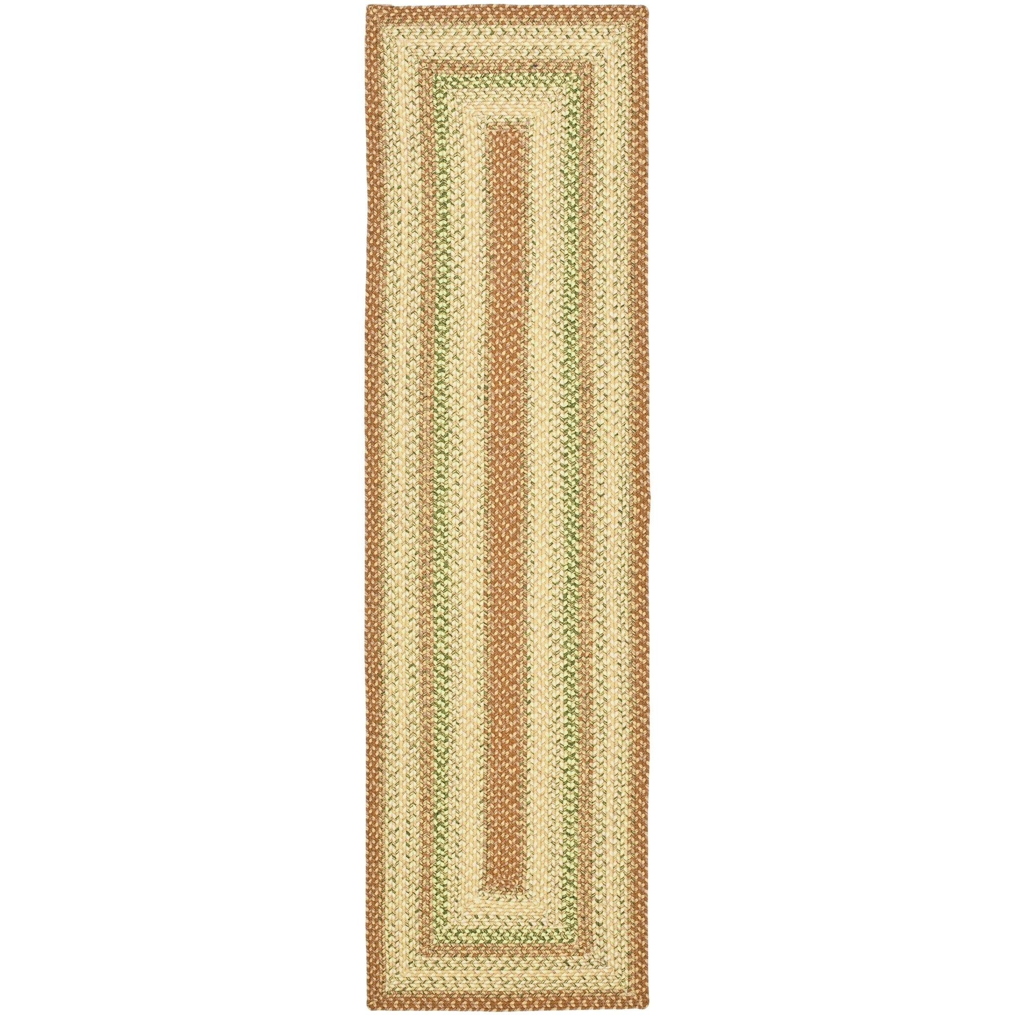 Safavieh Hand-woven Country Living Reversible Rust Braided Rug