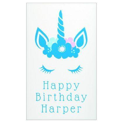 happy birthday magical unicorn banner unicorn birthday diy gift