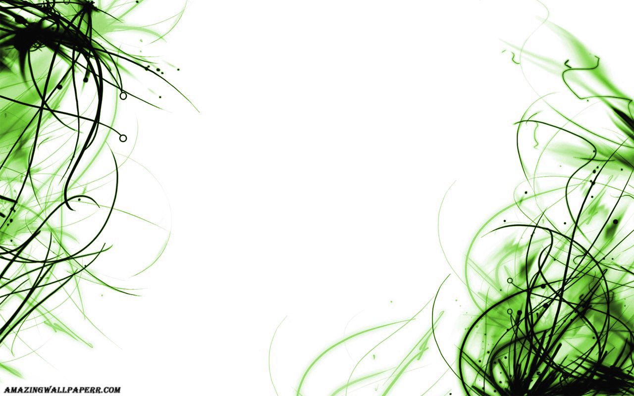 The Green And Black Abstract Art On White Background No Votes Yet