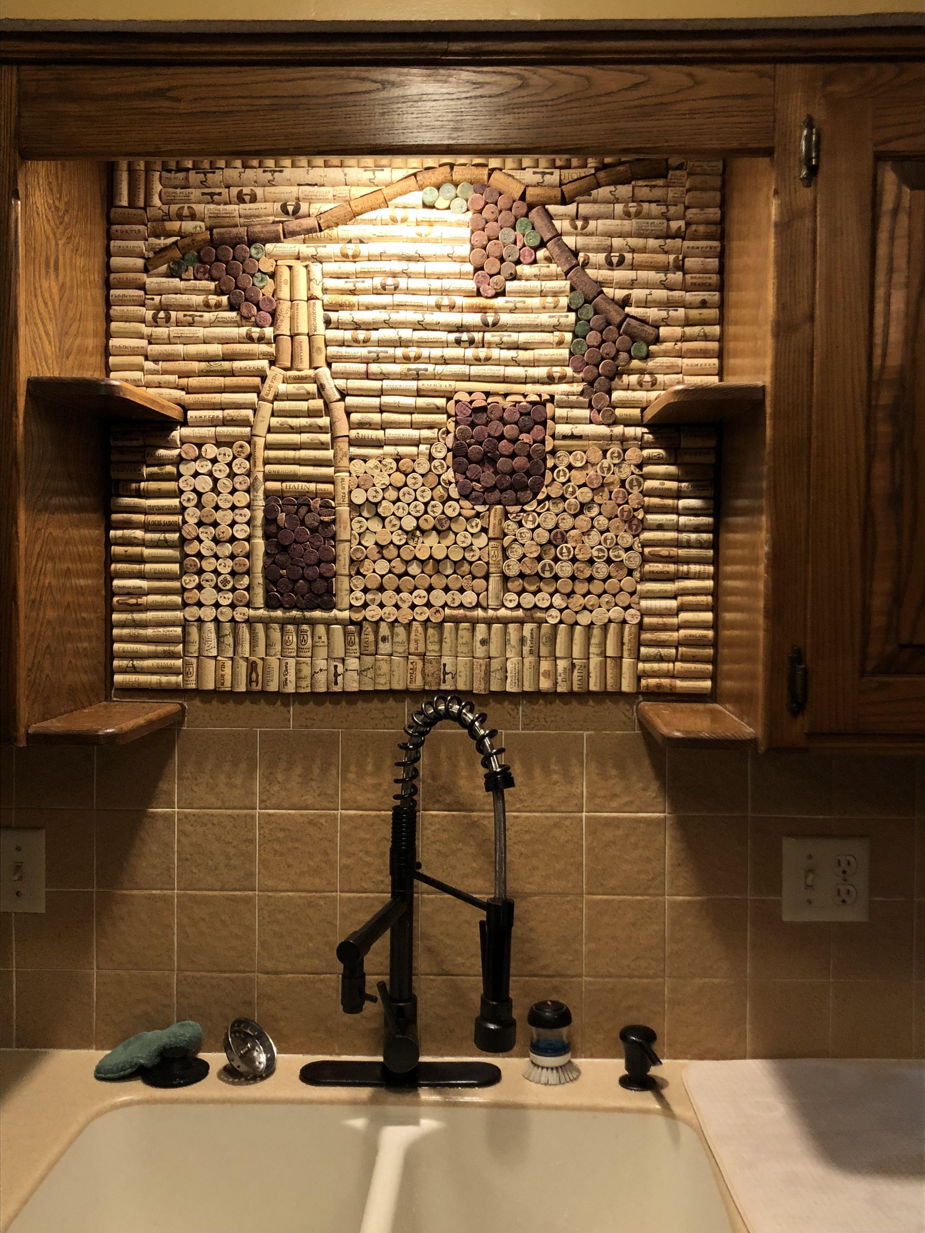 Pin by Kathy on wine cork wall backsplash Cork