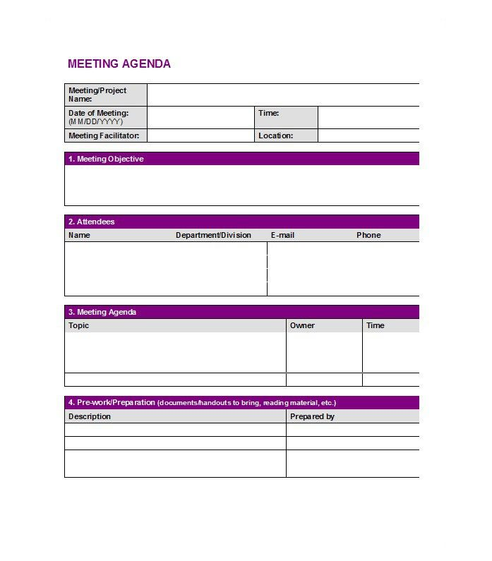 Meeting Agenda Template   Office Products    Template