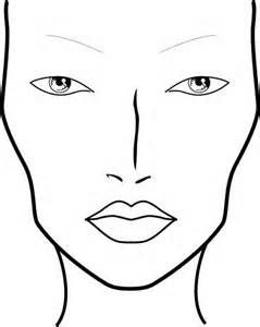 Blank Face Chart Templates Male  Blank Face Templates