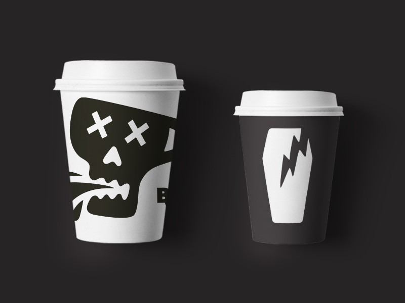 Badcoffee Branding — To Go Cups by Anton.Works