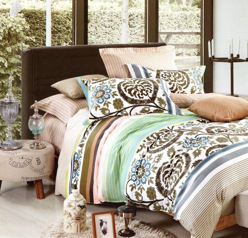 Béžové obojstranné posteľné prádlo 160x200 cm Farba