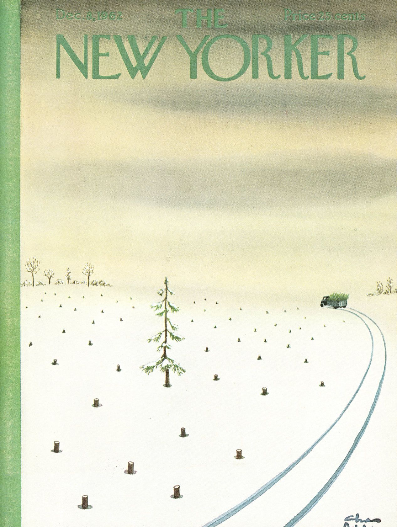The New Yorker - Saturday, December 8, 1962 - Issue # 1973 - Vol. 38 - N° 42 - Cover by : Charles Addams