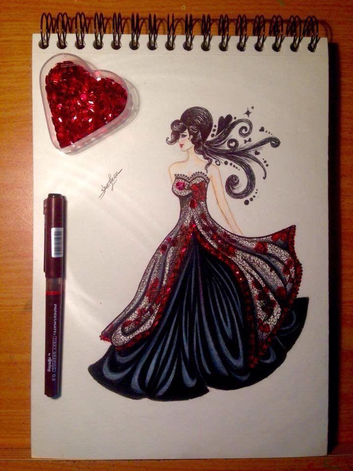 تصميم أزياء رسم أزياء لمبدعين في موقع طفرة جوز Drawing