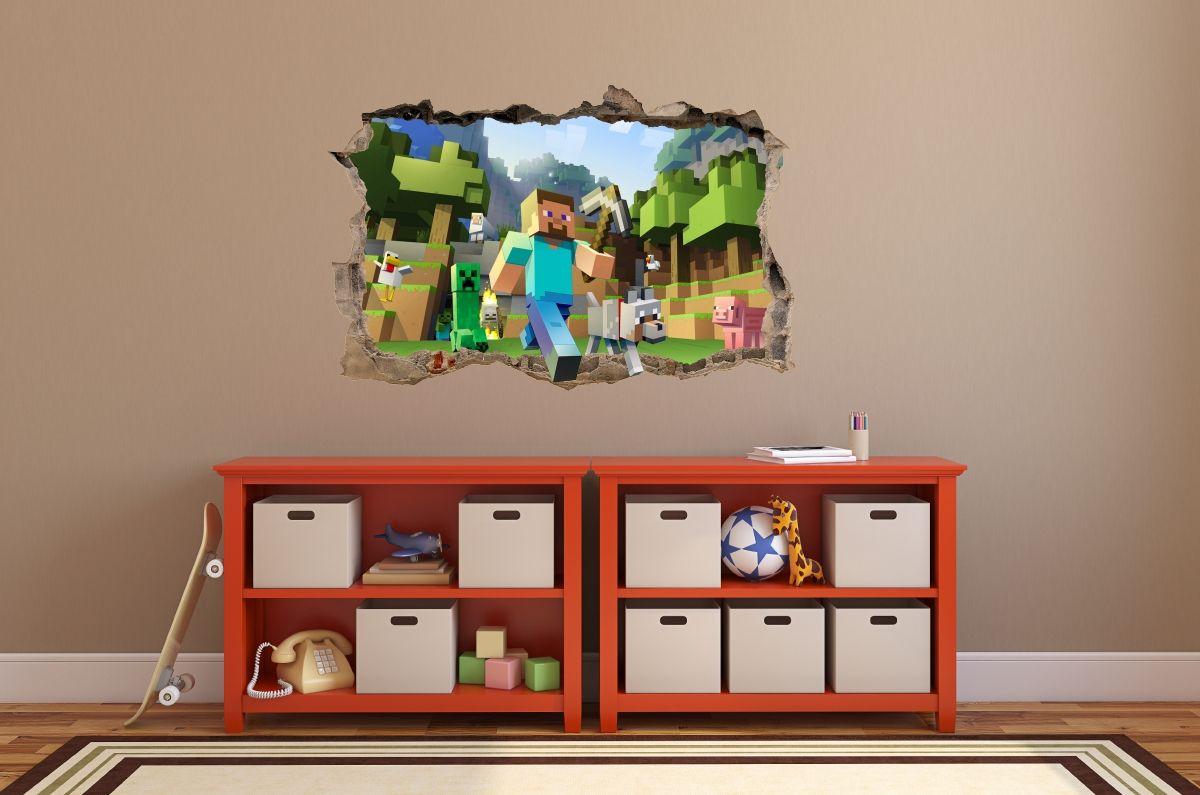 Naklejki Na Sciane Minecraft Holiday Decor Decor Home Decor