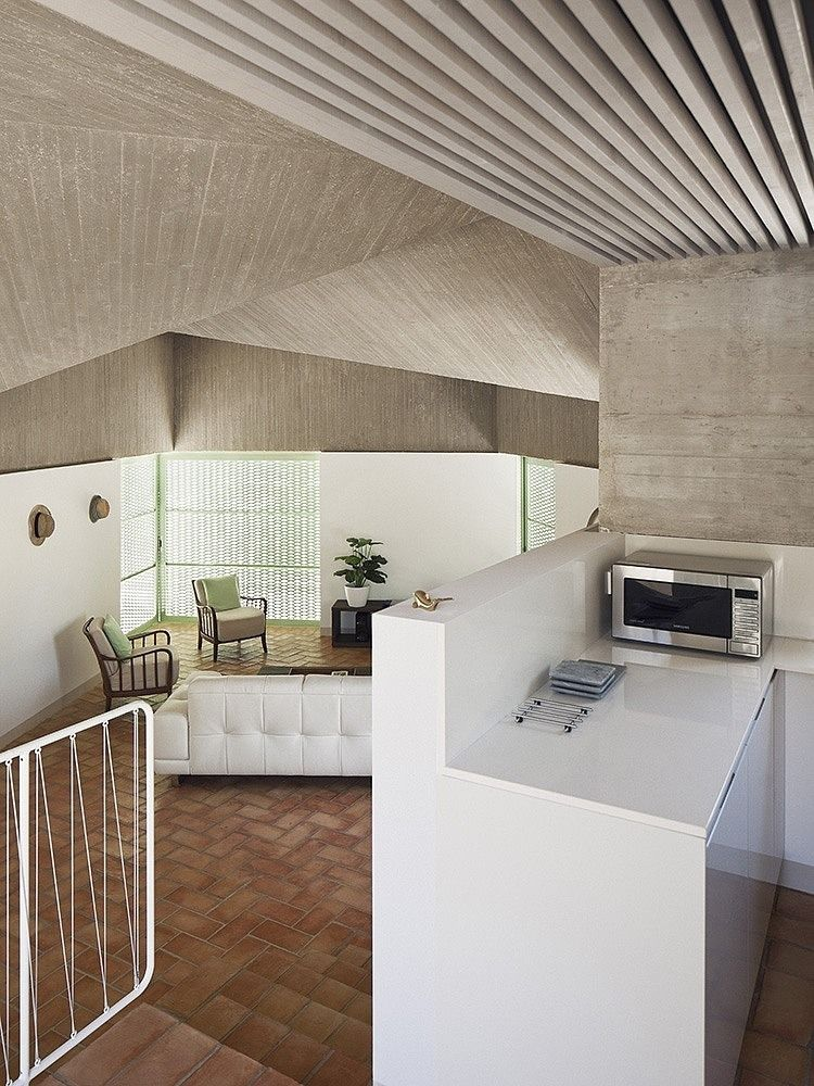 concrete soffit - modern summer house - Casa Baladrar - Benissa, Alicante, Spain - Langarita-Navarro Arquitectos - 2013