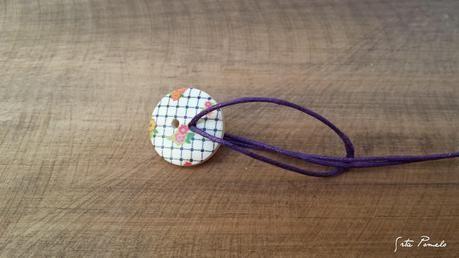 DIY: pulsera con botón de madera.