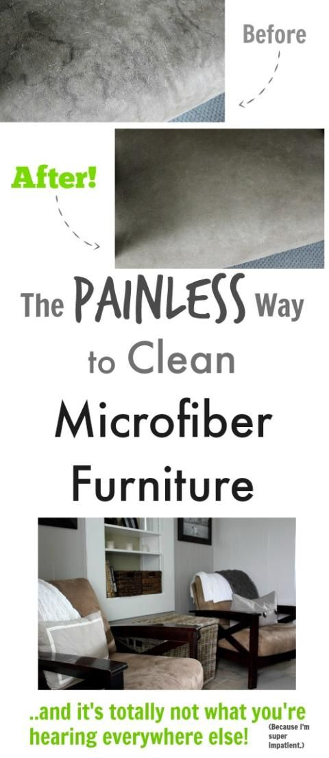 There's an easy, painless way to clean microfiber furniture that really works! Check it out!