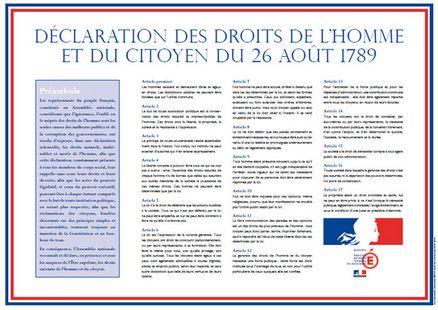 Affichage De La Declaration Des Droits De L Homme Et Du Citoyen Dans Les Ecoles Et Les Colleges Droits De L Homme Declaration Des Droits De L Homme Droits De L Enfant