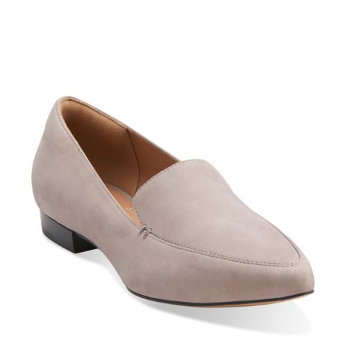 Corabeth Erin Light Grey Suede - Clarks Womens Shoes - Womens Heels and  Flats - Clarks