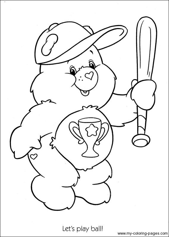 Care Bears Coloring 116 Crafty 80 S Care Bears