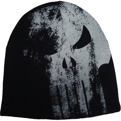 Punisher Logo Arsenal Reversible Knit Beanie bioworld.  14.09 ... 82a68dbad2a2