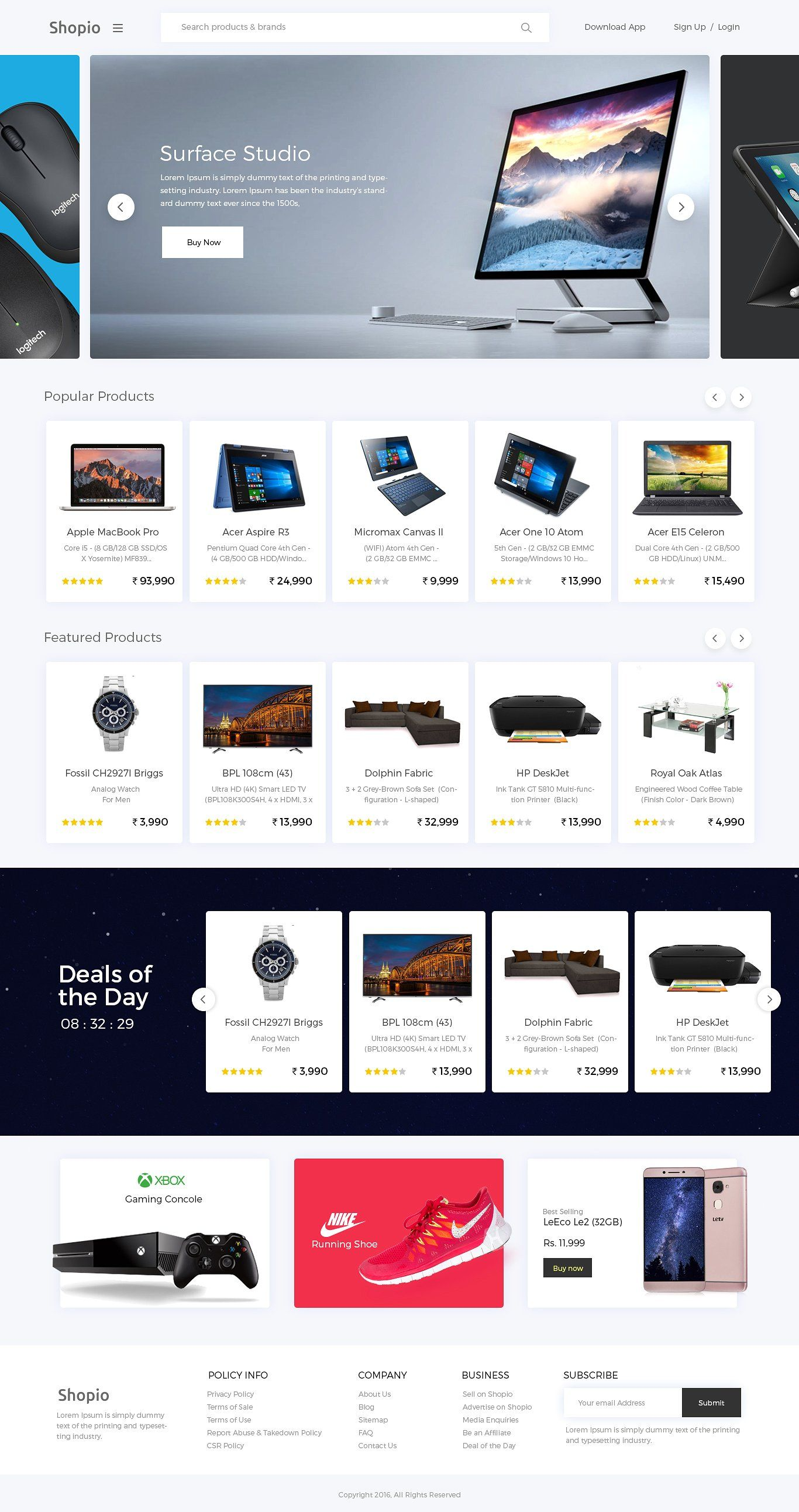 Shopio Ecommerce Psd Ecommerce Web Design Ecommerce Website Design Online Web Design