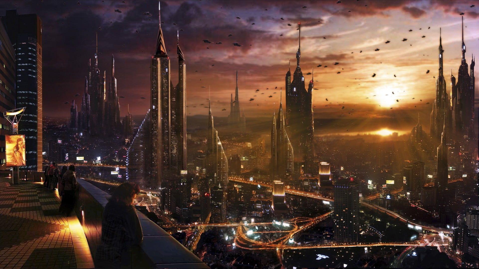 Futuristic Wallpaper Futuristic Art Of City Cityscape City Futuristic Science Fiction Futuristic City 1080 City Wallpaper Sci Fi Wallpaper Futuristic City