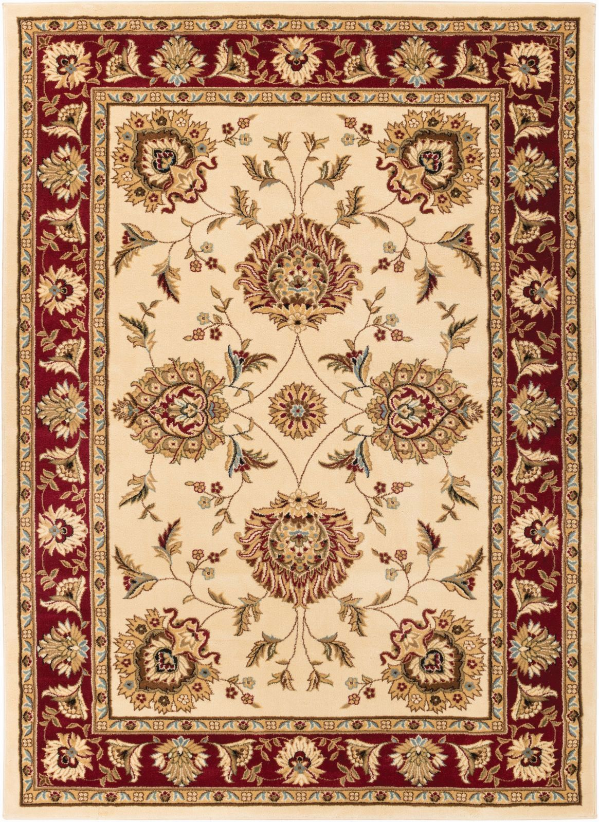 Traditional Formal Persian Floral Oriental Sarouk With Border Pattern