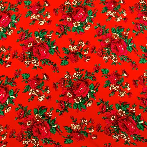 "Flowered Material 100% Polyester 60"" Wide ""Tybet"", Color"