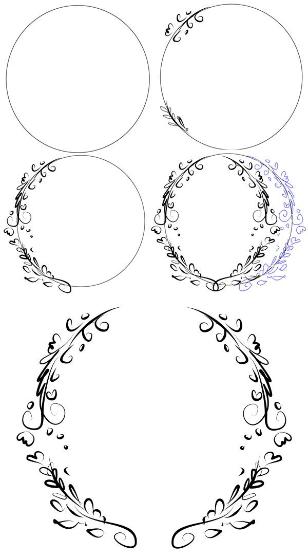 Use a circle as a template to create a frame for your design ...