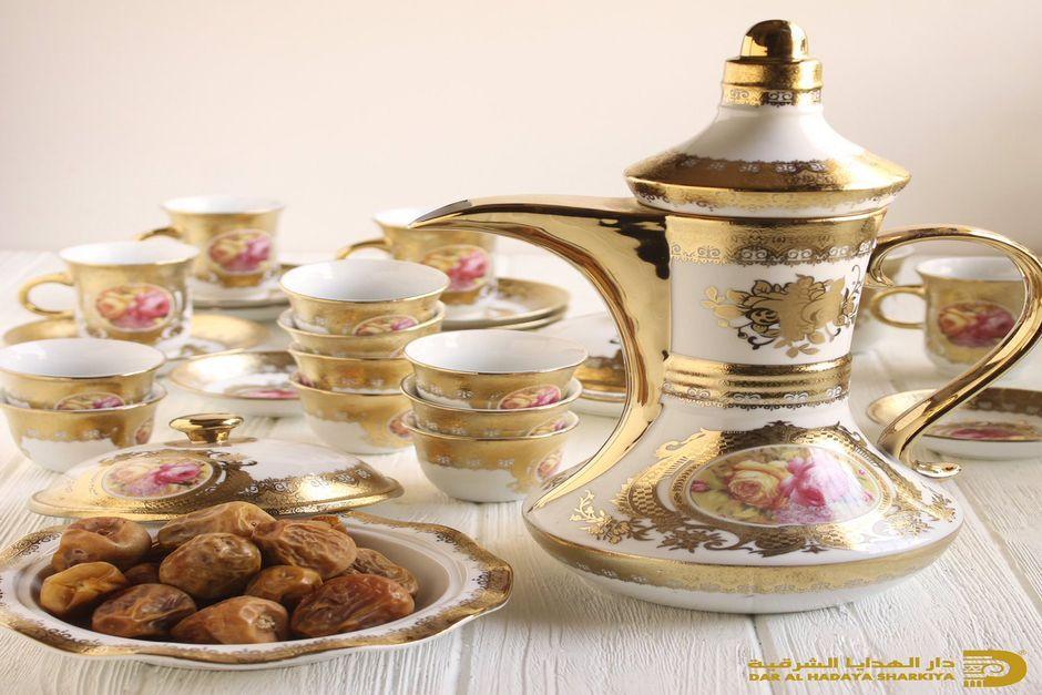 خدمة شاي وقهوه كويتيات 55299163 قرطبة للضيافة Sugar Bowl Set Tea Pots Tableware