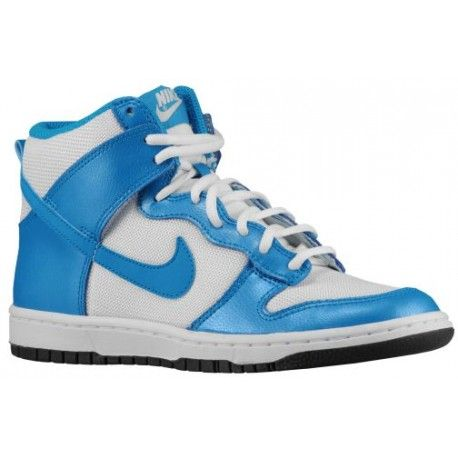 Womens Nike Dunk High Skinny White Lt Blue Lacquer