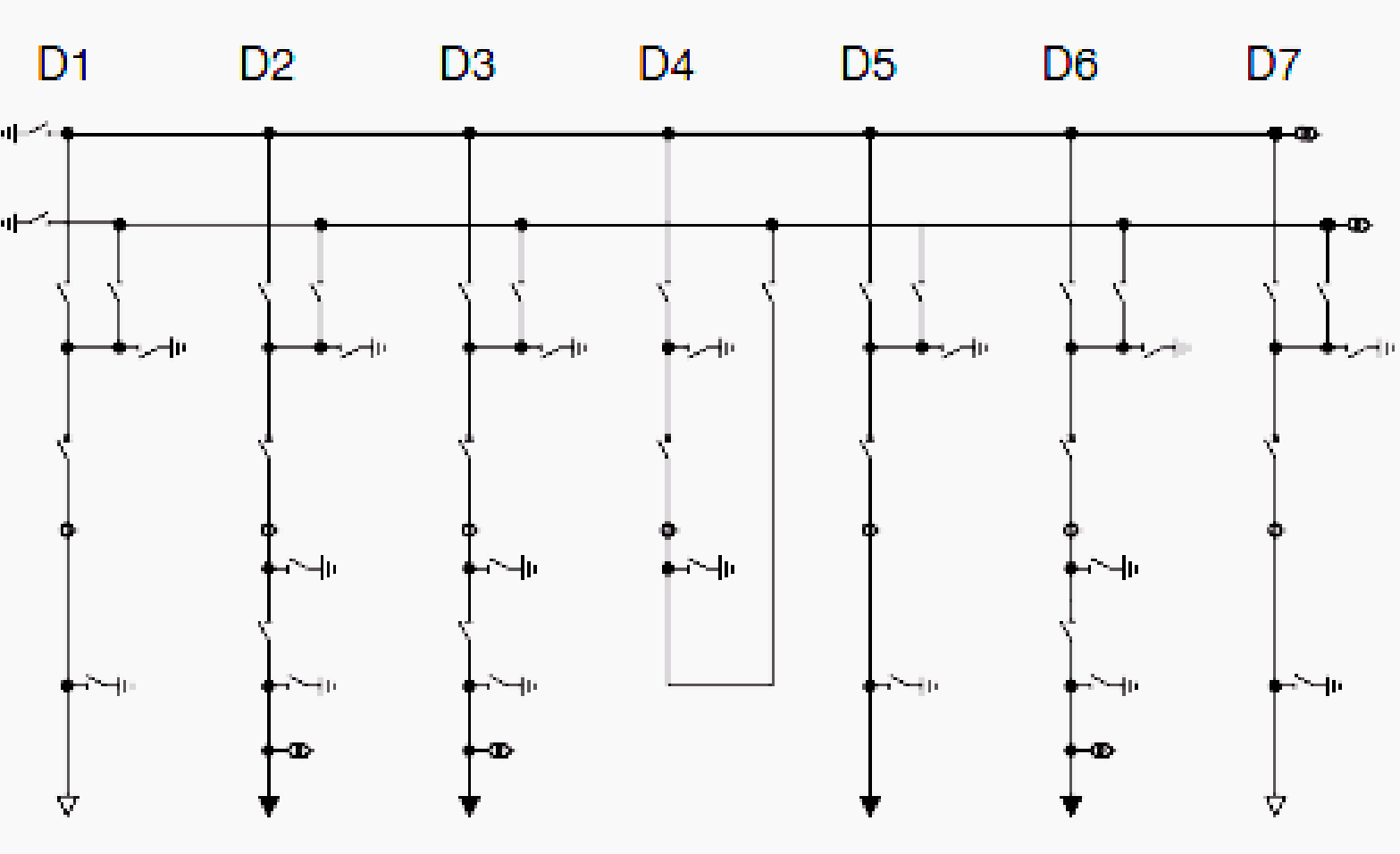 Single line diagram of double busbar transmission and single line diagram of double busbar pooptronica