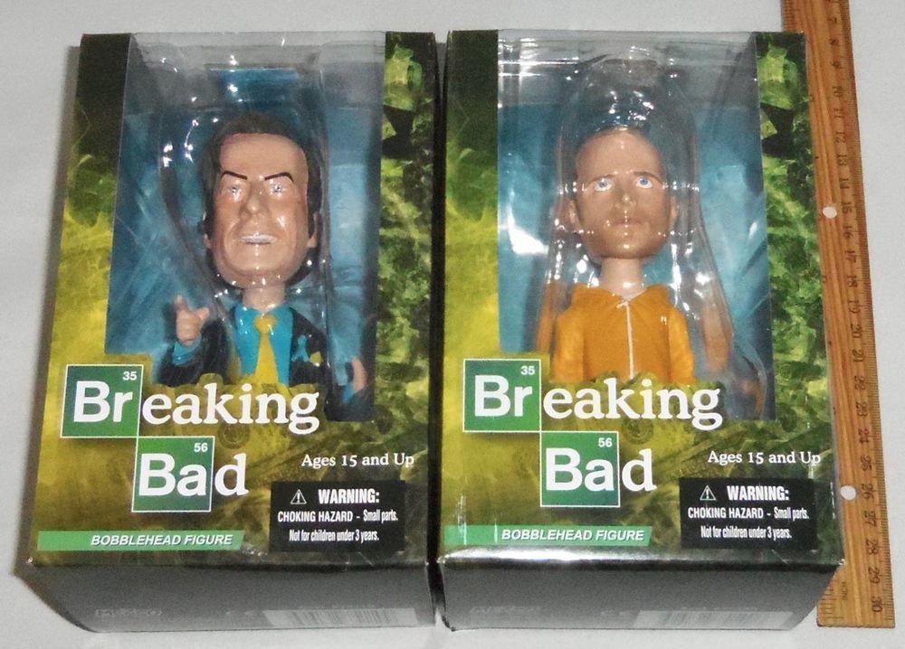 "Breaking Bad Better Call Saul Goodman & Jesse Pinkman  6"" Bobble Head Figures"