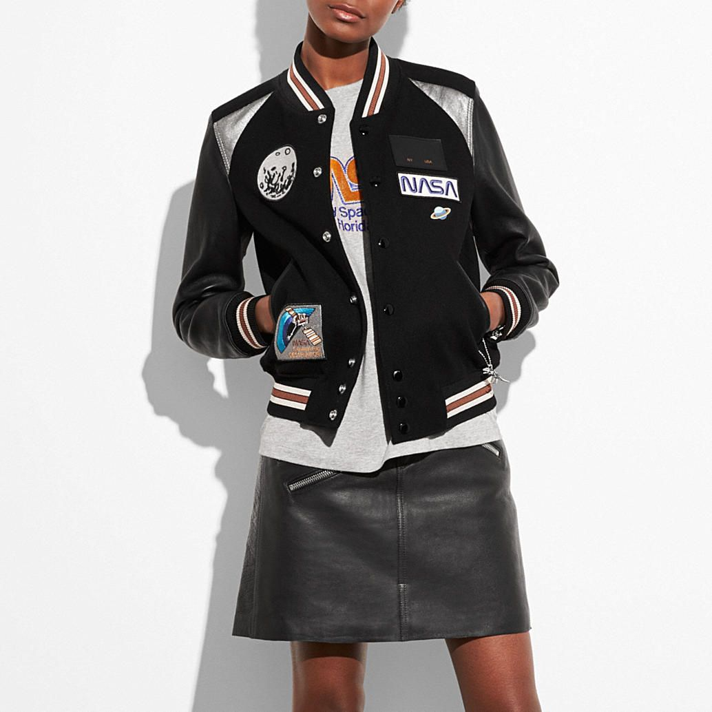 50a8460bef Shop The COACH Space Varsity Jacket. Enjoy Complimentary Shipping    Returns! Find Designer Bags