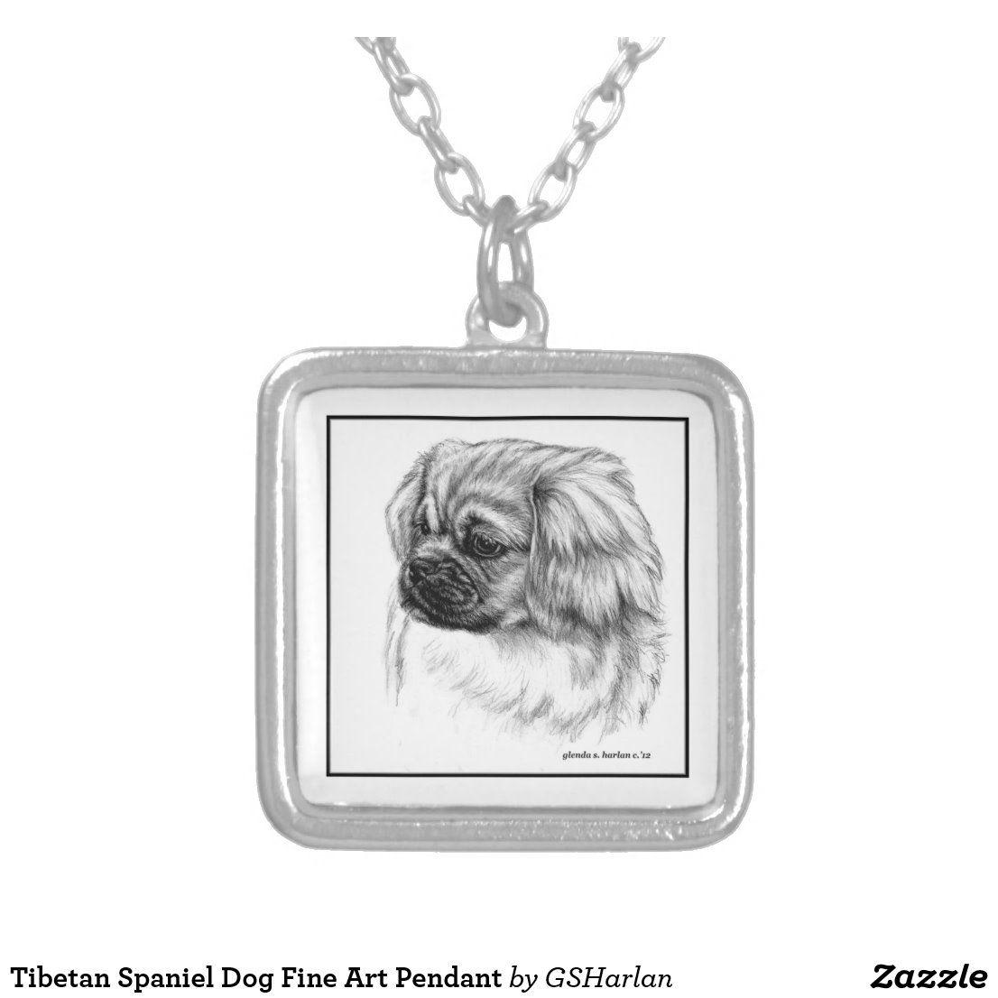 Tibetan Spaniel Dog Fine Art Pendant Zazzle Com Pendants Spaniel Dog Dog Jewelry
