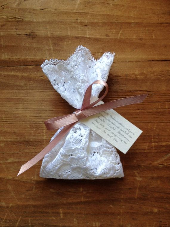 Lace Favor Bag Italian Wedding Favors Baptism Jordan Almond