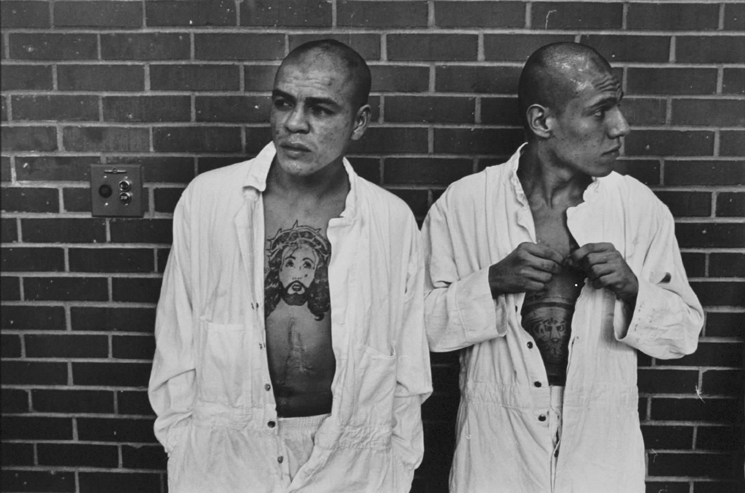 """""""New arrivals from Corpus Christi"""" from Conversations with the Dead by Danny Lyon --circa 1967-68"""