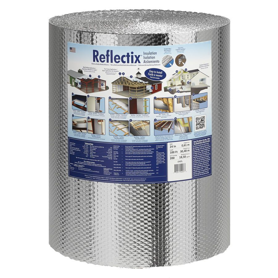 Reflectix R 21 200 Sq Ft Unfaced Reflective Roll Insulation 24 In W X 100 Ft L Lowes Com Roll Insulation Reflective Insulation Insulation