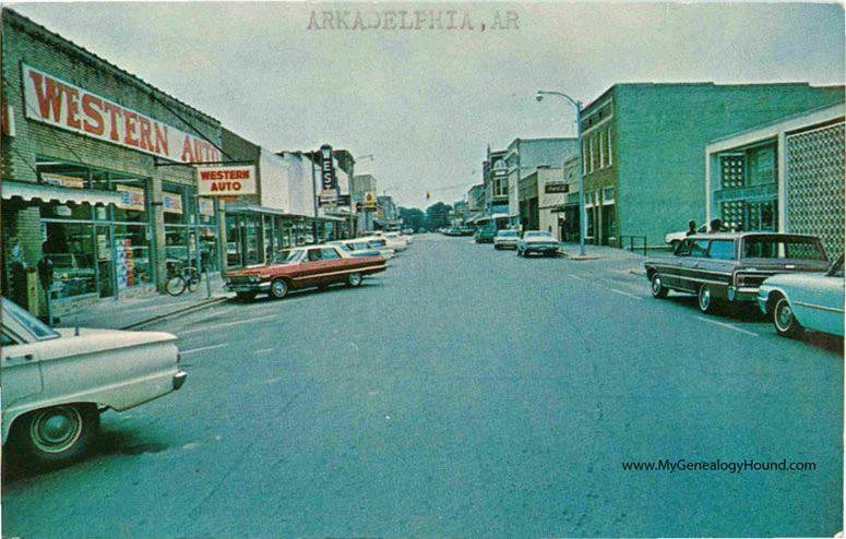 Arkadelphia Arkansas Main Street Vintage Postcard Historic Photo Vintage Postcard Photo Arkadelphia Arkansas