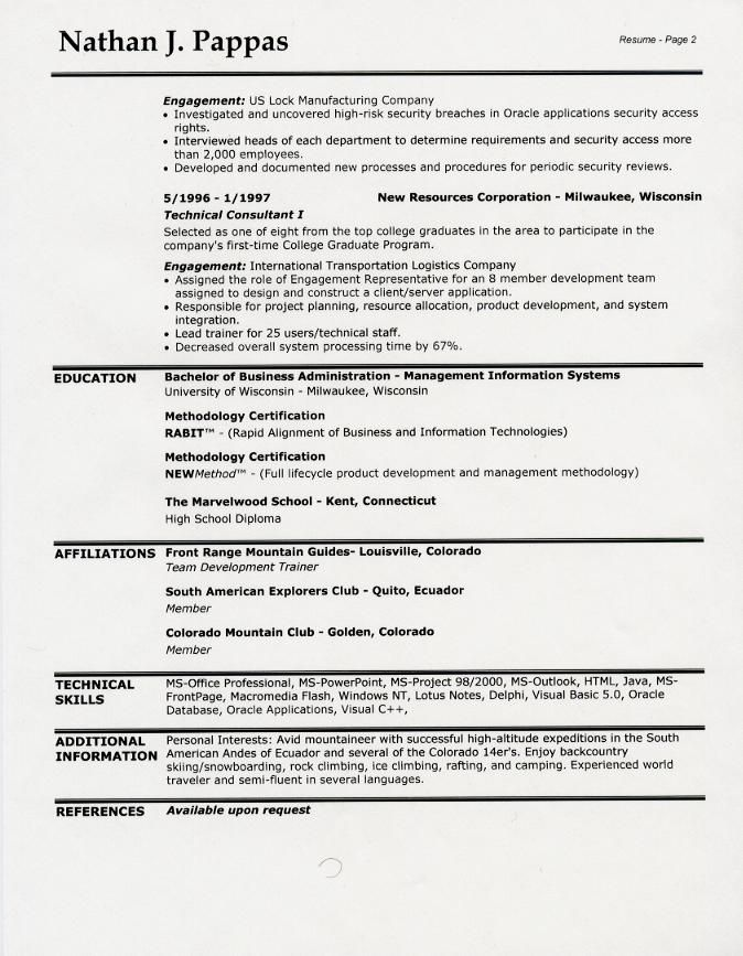 sample resume headings format for fresh graduates two page Home - resume headings format