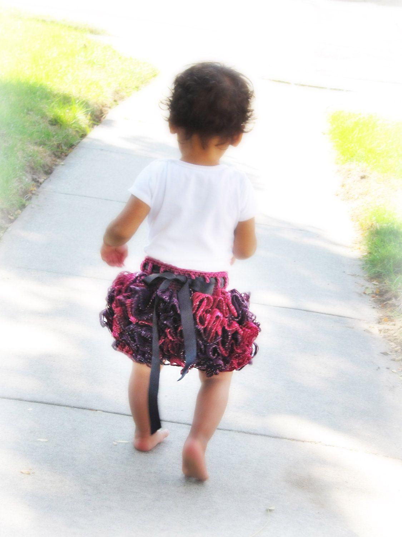 Ballerina Ruffle Skirt CROCHET PATTERN instant download - bum tutu ...