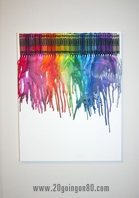 Crayon Wall Art Hot Glue Crayons In Your Preferred Arrangement