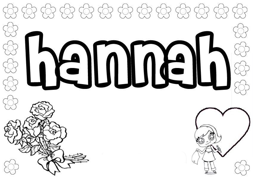 Hanna Coloring Pages Name Coloring Pages Coloring Pages