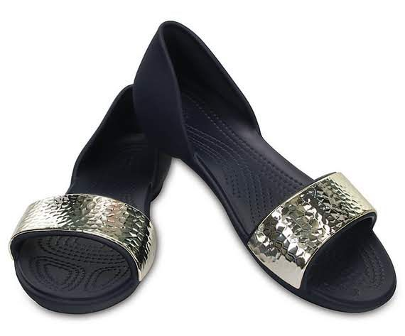 b790efc4ec0455 Women s Crocs Lina Embellished D Orsay Flat クロックス リナ エンベリッシュド ドルセー ウィメン navy    silver 4