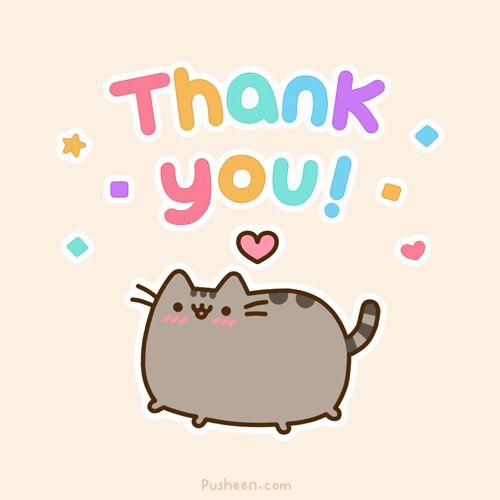 Pusheen Thank You Pusheen Cat Pinterest Chat Pusheen And