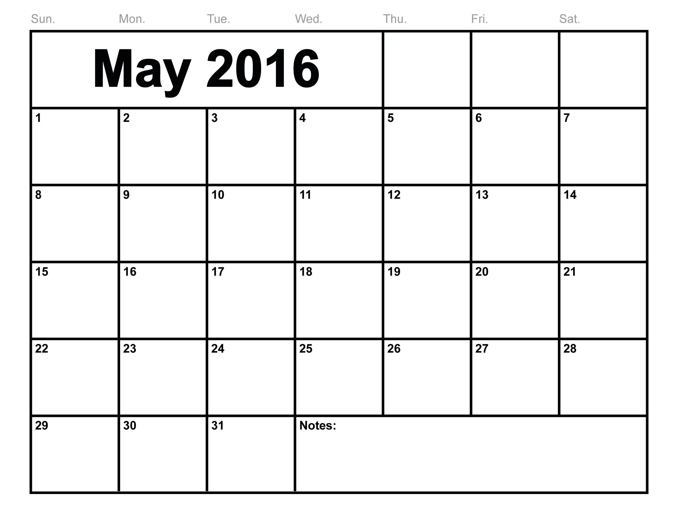 May  Calendar Printable Template  Templates  Transitional