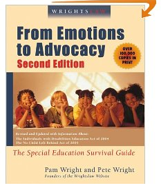 Wrightslaw From Emotions To Advocacy The Special Education Survival Guide Paperback Special Education Law Special Education Education Laws