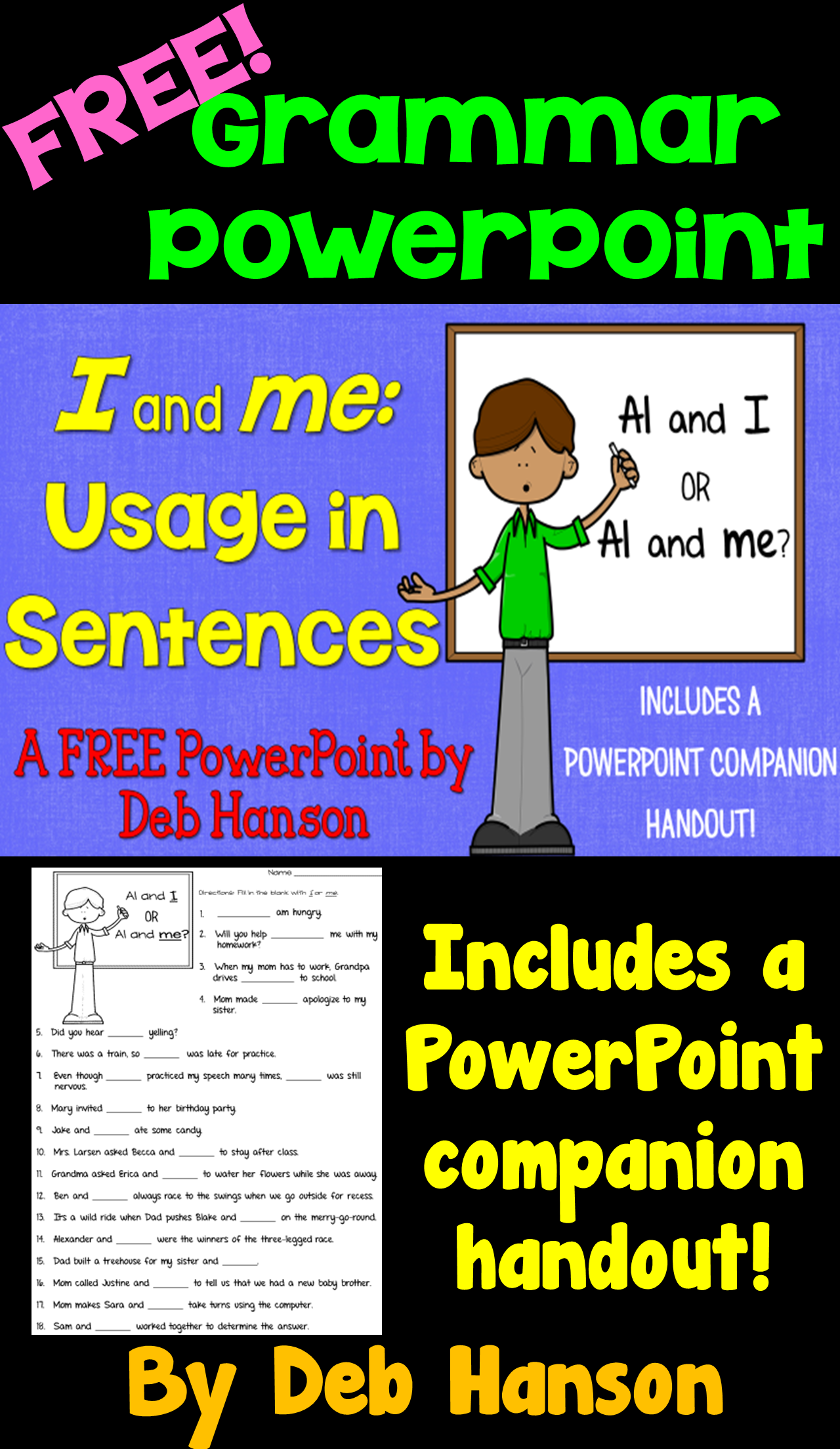 I Or Me A Free Grammar Powerpoint