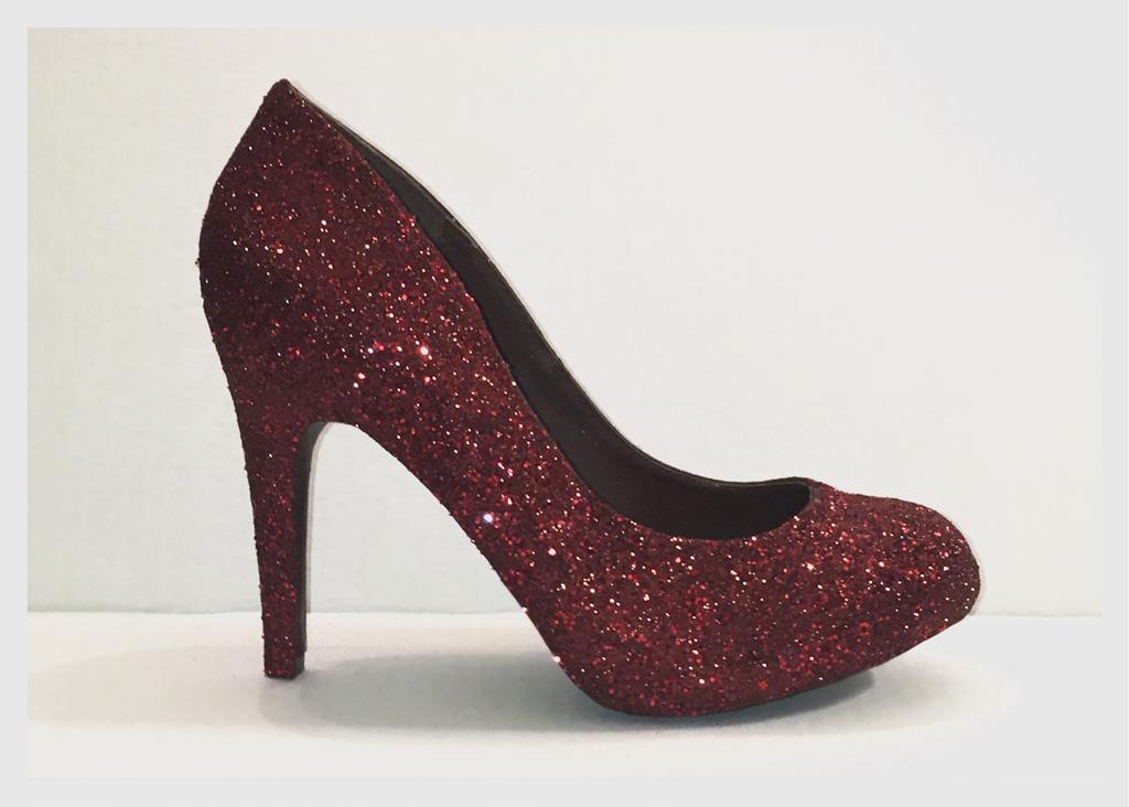 Women S Sparkly Burgundy Maroon Dark Red Glitter High Low Heels